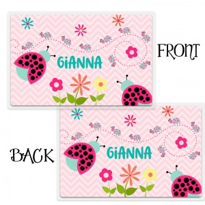 Personalized Girls Placemant - Cute Ladybug