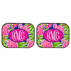 Fancy Flamingos Rear Car Mats