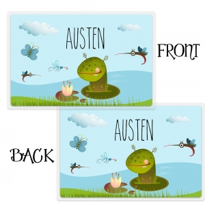Personalized Boys Placemant - Frog Monster