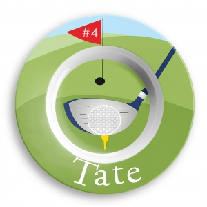 Golf Personalized Microwave Safe Bowl