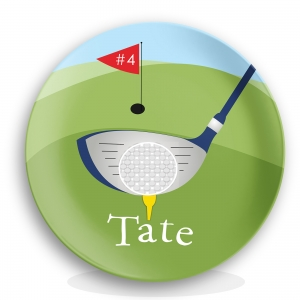 Golf Personalized Microwave Safe Plate