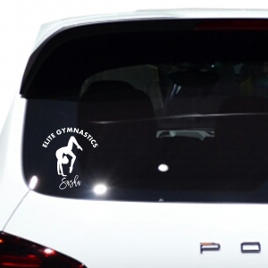 Gymnastics IV Personalized Car, Window, Door or Wall Decal