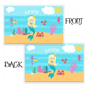 Mermaid Girls Personalized Placemat
