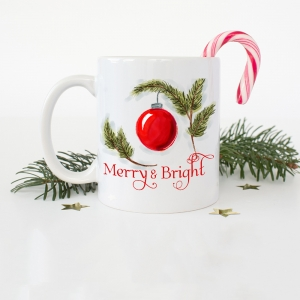 Merry & Bright Ornament Coffee Mug