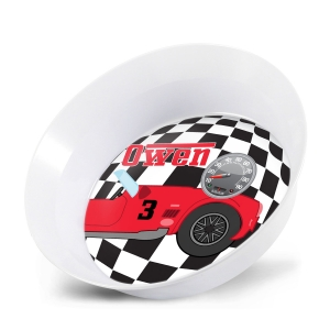 Personalized Kids Bowl  - Race Car