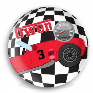 Personalized Kids Plate - Race Car
