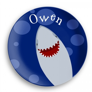 Personalized Kids Plate - Happy Shark