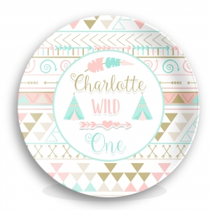 Personalized Kids Plate - One In A Melon