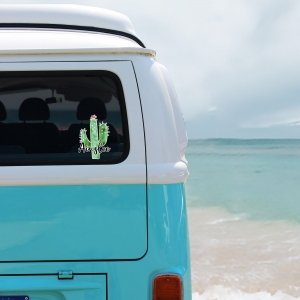 Cactus Personalized Window Decal Bumper Sticker