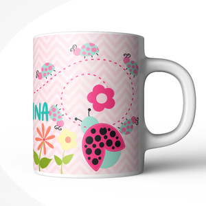 Cute Ladybug Personalized Kids Mug