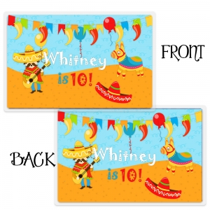 Fiesta! Personalized Kids Placemats