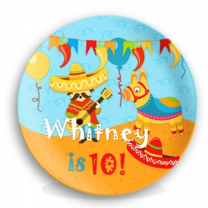 Fiesta! Personalized Kids Plate