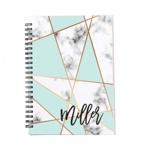 Personalized Notebook - Mint Marble