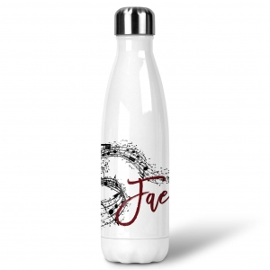 Musical Notes Custom Personalized Water Bottle Sports Bottle