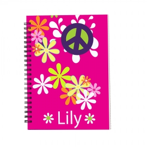 Personalized Notebook - Pink Peace