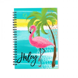Personalized Notebook - Pink Flamingo