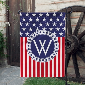 Stars & Stripes 4th Of July Personalized Garden Flag