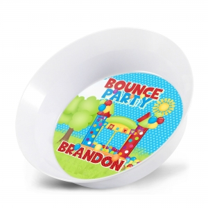 Bounce House Party Personalized Kids 12 oz Bowl