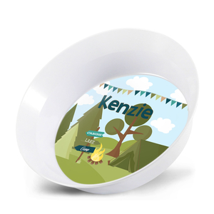 Camping Out Personalized Kids Bowl