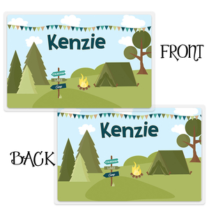 Camping Out Personalized Kids Placemat