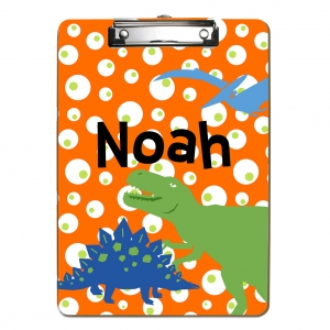 Polka Dot Crab Personalized Clipboard