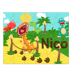 Dinosaur Personalized Kids Puzzle