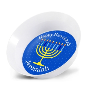 Happy Hanukkah Personalized Kids Bowl