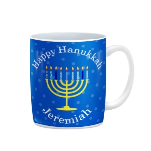 Happy Hanukkah Personalized Kids Mug
