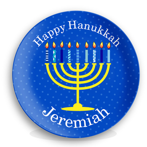 Happy Hanukkah Personalized Kids Plate