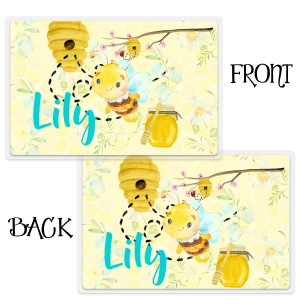 Honey Bee Personalized Girls Placemat