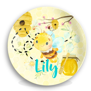 Honey Bee Personalized Girls Birthday Plate
