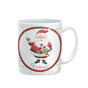 Jolly Saint Nick Personalized Christmas Mug