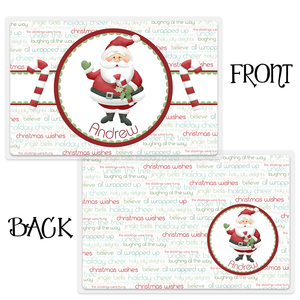 Jolly Saint Nick Personalized Christmas Placemat