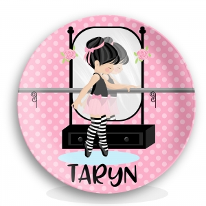 Little Ballerina Personalized Melamine Kids Plate
