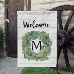 Magnolia Leaves Wreath Shiplap Farmhouse Decor Garden Flag