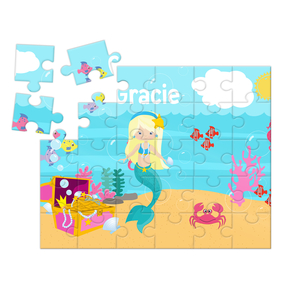 Mermaid Personalized Kids Puzzle