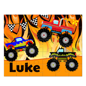 Monster Truck Personalized Kids Puzzle