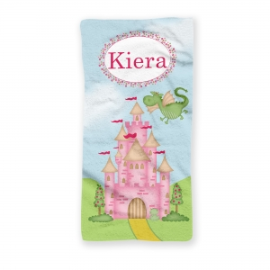 Princess Castle Personalized Beach Towel