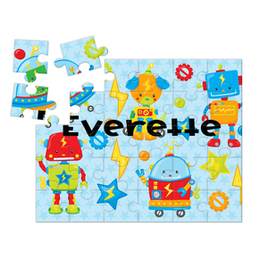 Robots Personalized Kids Puzzle