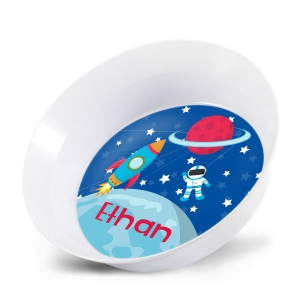 Space Astornaut Personalized Kids Bowl Snack Bowls