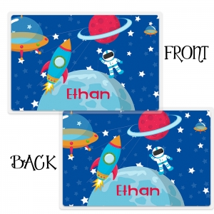 Space Astronaut Personalized Kids Placemat
