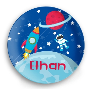 Space Astornaut Personalized Kids Plate