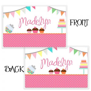 Sweet Shoppe Personalized Placemat