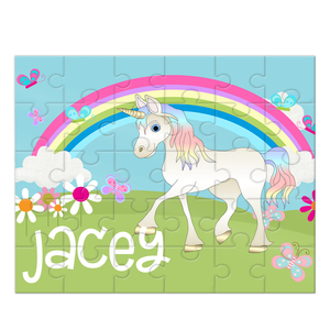 Unicorn Personalized Kids Puzzle