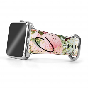 Pretty Peonies Personalized Apple Watch Band