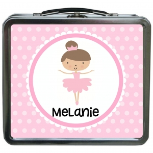 Ballerina Girls Personalized Girls Lunchbox