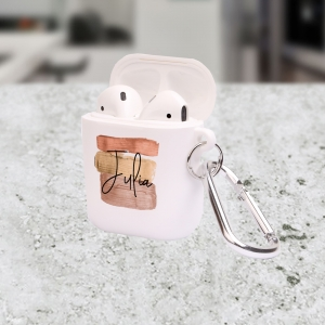 Personalized Brush Strokes Apple AirPods Case