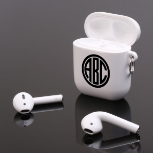 Personalized Circle Monogram Apple AirPods Case