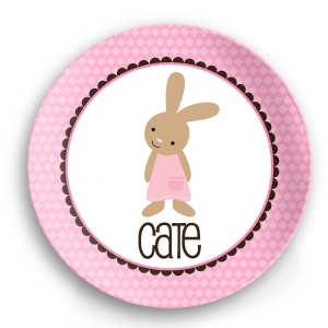 Classic Bunny Boy Personalized Easter Plate