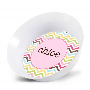 Cotton Candy Personalized Bowl